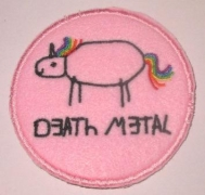 DEATH METAL UNICORN - gestickter Aufnäher