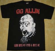 GG ALLIN - Look Into My Eyes - T-Shirt size L