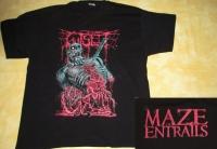 GUTSLIT - Maze of Entrails - T-Shirt - size XXL