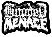 HOODED MENACE -  embroidered cutted white logo Patch