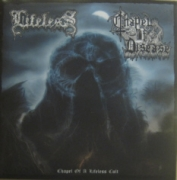 "LIFELESS / CHAPPLE OF DISEASE -split 7"" EP- (Clear Demon-Blue Vinyl Edition)"
