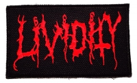 LIVIDITY - embroidered  RED logo Patch