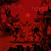 NUNSLAUGHTER / HATEVÖMIT - split EP-CD -
