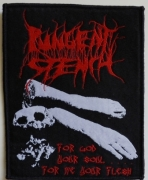 PUNGENT STENCH -For God Your Soul…For Me Your Flesh - woven Patch