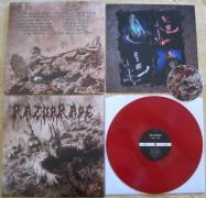 "RAZOR RAPE - 12"" LP + Audio CD- Orgy in Guts - (RED VINYL)"
