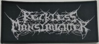 RECKLESS MANSLAUGHTER - Logo - Woven Patch