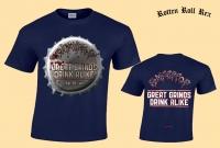 ROMPEPROP - Great Grinds Drink Alike - Cobalt Blue T-Shirt