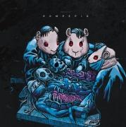 """ROMPEPROP / GUINEAPIG - split 12"""" EP (green splattered vinyl - Rompeprop Edition)"""