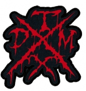 TXDM (TEXAS DEATH METAL) embroidered cutted RED logo Patch