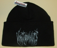 VOMIT REMNANTS - black, folded Beanie - grey embroidery