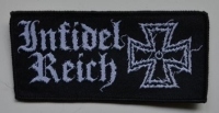 INFIDEL REICH - white Logo - woven patch