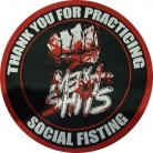 MEAT SHITS - Social Fisting - woven Patch