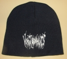 VOMIT REMNANTS - dark blue Beanie - white embroidery