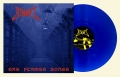 BLOOD - 12'' LP - Gas Flames Bones (clear blue, white splattered Vinyl)