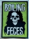 BOILING FECES - green woven Patch