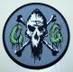 CUNTGRINDER - CG-Logo grey - woven Patch