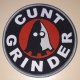 CUNTGRINDER - grey Frame - woven Patch