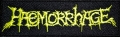HAEMORRHAGE - yellow Logo - embroidered Patch