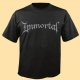 IMMORTAL - grey Logo - T-Shirt size M