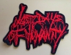 LAST DAYS OF HUMANITY - Cut-Out Logo - large embroidered Patch