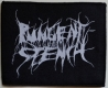 PUNGENT STENCH - White-Logo on Black - woven Patch