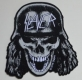 SLAYER - Wehrmacht Skull Cut Out - gewebter Patch