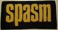 SPASM - yellow Logo - gewebter Patch