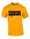 SPASM - black Logo - gold-yellow T-Shirt