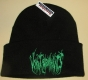 VOMIT REMNANTS - black, folded Beanie - green embroidery